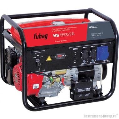 Генератор бензиновый с электростартером Fubag HS 5500 ES с двигателем Honda