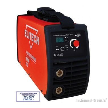 Сварочный инвертор Elitech АИС 210 (НАКС)