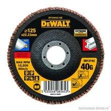 Диск лепестковый по металлу DeWalt DT 30602 (125х22 мм; К40; плоский)
