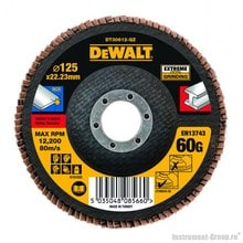 Диск лепестковый по металлу DeWalt DT 30612 (125х22 мм; К60; плоский)