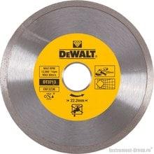 Диск алмазный сплошной DeWalt DT 3713 (125х22.2х1.6 мм; для сухого реза плитки, керамики)