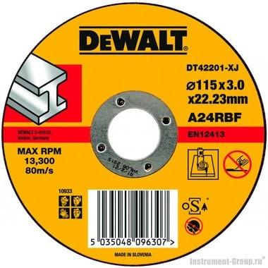 Диск отрезной по металлу DeWalt DT 42201 (115х22.2х3.0 мм)