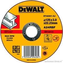 Диск отрезной по металлу DeWalt DT 42301 (125х22.2х3.0 мм)