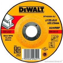 Диск шлифовальный по металлу DeWalt DT 42320 (125х22.2х6.0 мм)