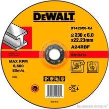 Диск шлифовальный по металлу DeWalt DT 42620 (230х22.2х6 мм)