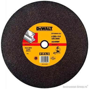 Диск отрезной абразивный по металлу DeWalt DT 42800 (355х25.4х3 мм)