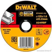 Диск отрезной по металлу DeWalt DT 43301 (125х22.2х1.6 мм; EXTREME)