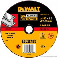 Диск отрезной по металлу DeWalt DT 43501 (180х22.2х1.6 мм; EXTREME)