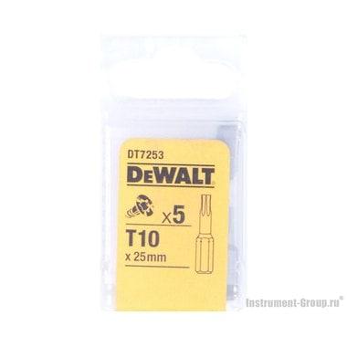 Биты Тоrх Т10 (25 мм; 5 шт.) DeWalt DT 7253