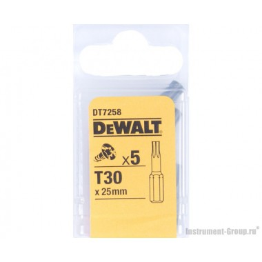 Биты Тоrх Т30 (25 мм; 5 шт.) DeWalt DT 7258