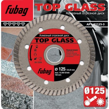 Алмазный диск Top Glass (115x22.2 мм) Fubag 81115-3