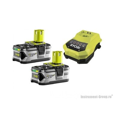 Аккумулятор 2 шт. + зарядное устройство Ryobi ONE+ 3002481(RBC18LL50)