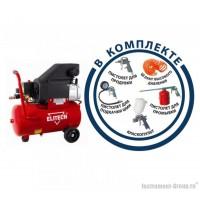 Масляный компрессор Elitech КПМ 200/24+5К