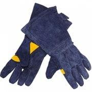 Перчатки сварочные синие с накладками на ладони Elitech 0606.016300