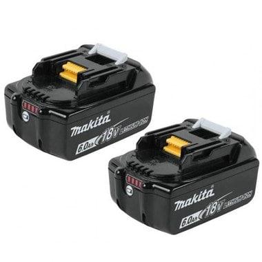 Аккумуляторы 2 шт. BL1860B Makita 197428-2 (18 В; 6 Ач; Li-Ion) с индикацией заряда