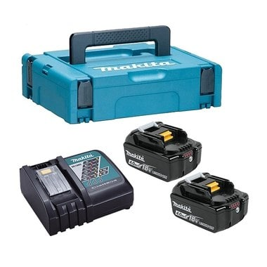 Аккумуляторы BL1840B 2 шт. + з/у DC18RC + кейс Makpac Makita 198310-8
