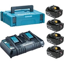 Аккумуляторы 4 шт. BL1840B + зу DC18RD Makita 198489-5 (18 В; 4.0 Ач; Li-ion)