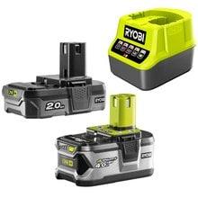Аккумуляторы 2 шт. (2 Ач + 4 Ач) + зарядное устройство ONE+ Ryobi 3003365(RC18120-242)