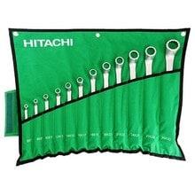 Набор раздвоенных кольцевых гаечных ключей Hitachi HTC-774019 (12 шт.)
