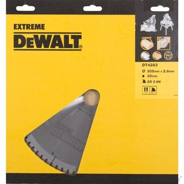 Диск пильный по ламинату, пластику DeWalt DT 4283 (305х30х1.8 мм; 80 зуб.)