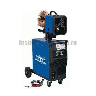 Сварочный полуавтомат BlueWeld Megamig 380 + тележка 806459
