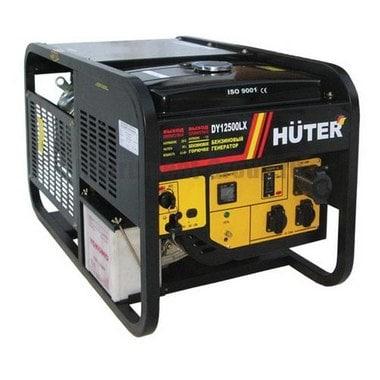 Генератор бензиновый Huter DY12500LX c колесами и аккумулятором