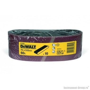 Лента шлифовальная DeWalt DT 3302 (75х533 мм, К60, 10 шт, для дерева, краски)