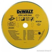 Диск алмазный сплошной DeWalt DT 3734 (254х25,4х1,6 мм; для камня, гранита)