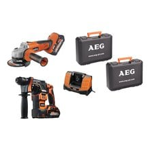 Набор аккумуляторных инструментов AEG JP18D2 LI-502C2 4935464154