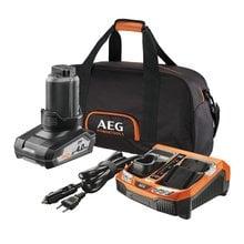 Аккумулятор L1240 (12 В; 4.0 Ач; Li-ion) + зарядное устройство BLK1218 + сумка AEG SETL1240BLK 4932451628