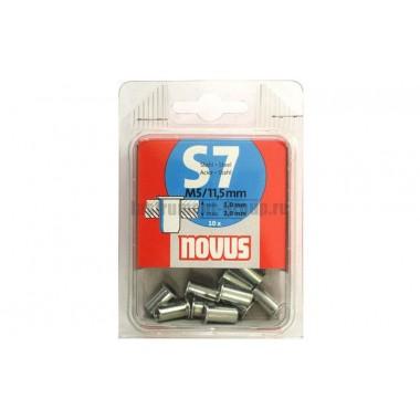 Стальная заклепка-гайка S7/M5х11.5мм Novus 045-0045