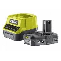 Аккумулятор (18 В; 2.0 А*ч; Li-Ion)+ зарядное устройство Ryobi ONE+ RC18120-120 5133003368