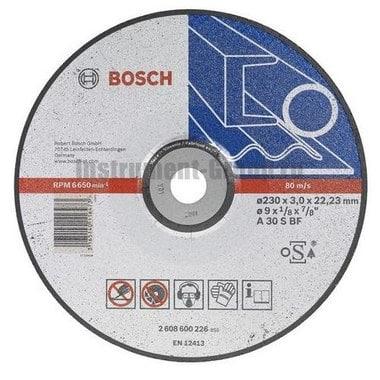 Диск отрезной по металлу Bosch 2.608.600.226 (230х22,2х3 мм)
