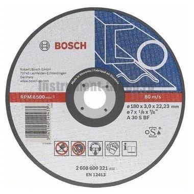 Диск отрезной по металлу Bosch 2.608.600.316 (180х22,2х3 мм)