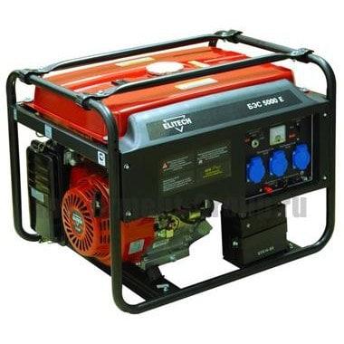 Генератор бензиновый Elitech БЭС 5000 Е
