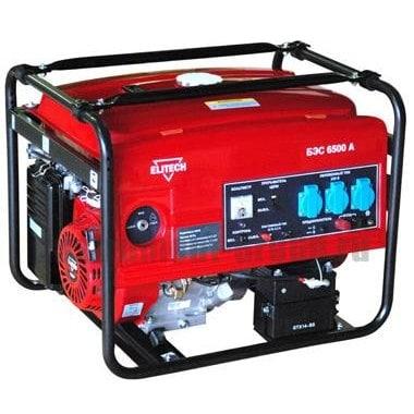 Генератор бензиновый Elitech БЭС 6500 А