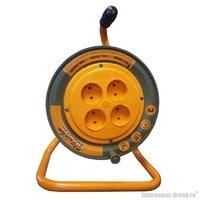 Силовой удлинитель на катушке, 4 розетки, 30 м Glanzen EB-30-002