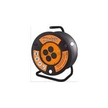 Силовой удлинитель на катушке с заземлением, 4 розетки, 30 м Glanzen EB-30-008
