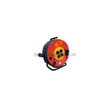 Силовой удлинитель на металлической катушке с заземлением, 4 розетки, 50 м Glanzen EB-50-010