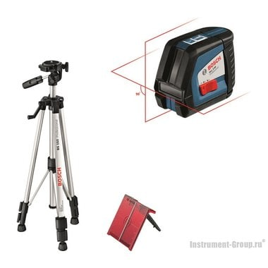 Построитель лазерных плоскостей Bosch GLL 2-50 + BS 150 + вкладка под L-Boxx (0601063105)