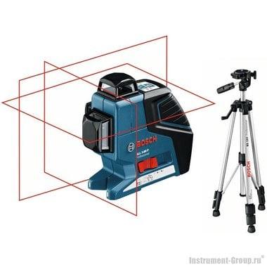 Построитель лазерных плоскостей Bosch GLL 3-80 P + BS 150 + вкладка под L-Boxx (0601063306)