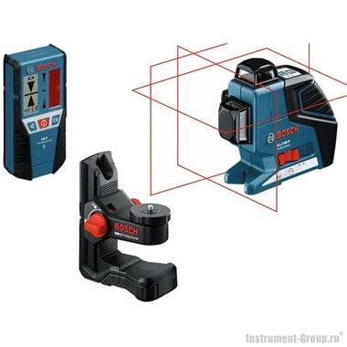 Построитель лазерных плоскостей Bosch GLL 3-80 P + BM1 + LR2 в L-Boxx (060106330A)