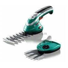 Аккумуляторные ножницы для травы Bosch ISIO 3 + насадка кусторез  (0.600.833.102)
