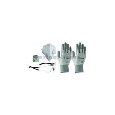 Набор 2 - Защитные очки, маска, беруши, перчатки Bosch 2.607.017.183