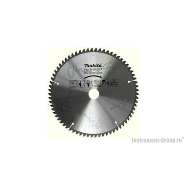 Диск пильный Makita B-04597 (Standard; 260х30/15.88х2.3 мм; 70 зуб; по дереву, тихий рез)