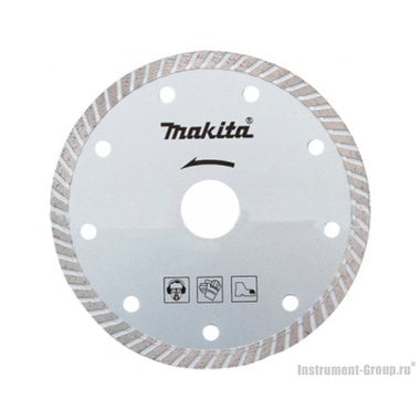 Диск алмазный сплошной Turbo Makita B-28064 (180х25.4/22.23 мм; для стр. материалов)