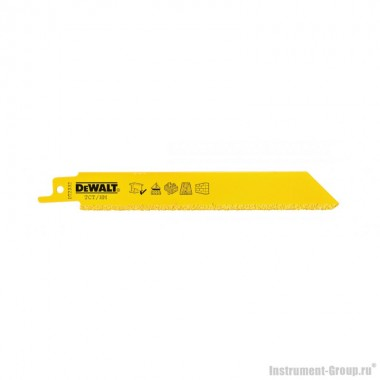 Полотно для сабельных пил 1 шт. DeWalt DT 2332 (НM; 152 мм; для тверд. материал., бетона, абразива)