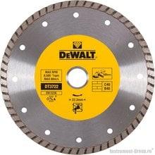 Диск алмазный сплошной турбо DeWalt DT 3722 (180х22.2х2.4 мм; для сухого реза стр. материалов)