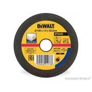 Диск отрезной прямой по нерж. стали DeWalt DT 3445 (125х22.2х1 мм)