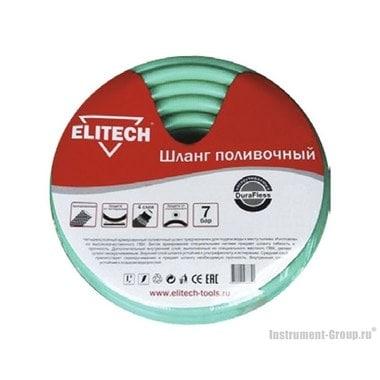 Шланг поливочный 1/2х2.5 мм, 25 м нескручивае мый DuraFless Elitech 1005.003100